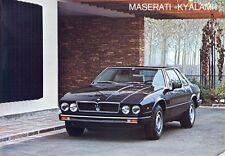 Maserati Kyalami 4200cc 2+2 Italian, English & French language sales brochure