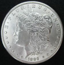 1889 MORGAN, CHOICE BRILLIANT UNCIRCULATED MINT STATE+++. FANTASTIC DETAILS.
