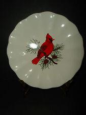 "NEW American Atelier Salad Plate ATHENA Red Cardinal Bird #5166 8 1/2"""