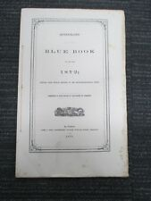 QUEENSLAND BLUE BOOK 1872 Pensions Police Gold Fields Engineer History H229