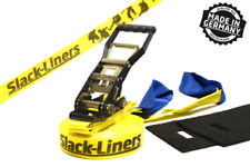 4 pezzi Slackline-SET - 50mm-larga 15m lungo giallo-Made in Germany