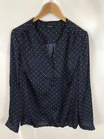 WOMAN BY TCHIBO Damen Bluse, Shirt, Größe 42, mehrfarbig, Muster, locker, schick