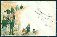 GdF Guardia di Finanza Militari STRAPPINO cartolina KF0135