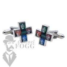 Shop For Cuff Links Beatles Psychedelic Cufflinks Mens Jewellery Accessory