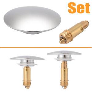 Chrome Click Clack Basin Waste Pop Up Bath Sink Push Button Plug Bolt Seal Kit