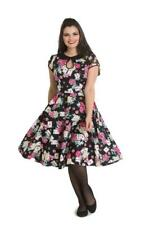 Hell Bunny Queen of Heart Roses Poker Retro Vintage Rockabilly 50's Flare Dress