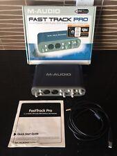 M-AUDIO FAST TRACK PRO USB AUDIO/MIDI INTERFACE - EXCELLENT USED CONDITION -