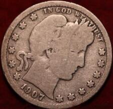1907-O New Orleans Mint Silver Barber Quarter