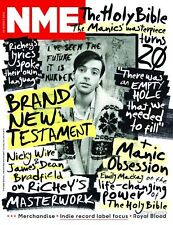 NME magazine - 16 August 2014 - RICHEY EDWARDS / MANICS  front cover - New