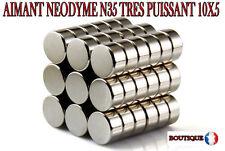 LOT 10 AIMANT NEODYME N35 MAGNET SCRAPBOOKING FIMO MAGNETIQUE 10X5  mm