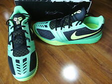 NEW Nike KB Mentality Basketball Shoes MENS 10 Black Volt Green 704942 001 $100