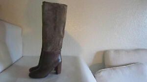 VINCE CORINNE NEW US 8 EU 38 LEATHER SUEDE KNEE BOOT  BROWN ITALY