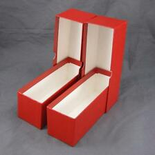 2 Red Cardboard Coin Slab Storage Boxes for NGC PCGS and Other Slabs