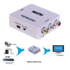 1080P HDMI to Composite 3 RCA AV CVBS Video Converter DVD CRT Apple TV PS3 SKY