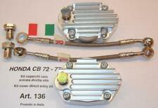 Honda CB72 CB77 billet camshaft covers with direct oil feed Cappellini Moto #136