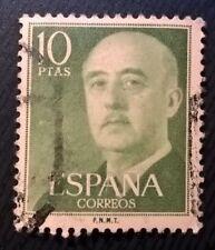 Spain stamps - General Francisco Franco - 10 peseta 1955