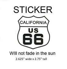 "California Route 66 Vinyl Sticker - Will not fade in the sun, 2.625"" x 2.75"""