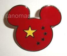 Disney WDW Epcot World Showcase Flag Mickey Head Ears Icon Logo - CHINA Pin
