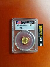 2016 W MERCURY DIME GOLD PCGS  SP70 FLAG MERCANTI FIRST DAY OF ISSUE FDI 10C
