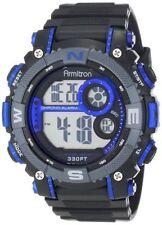 Armitron Men's Black Resin Watch, 100 Meter WR, Chronograph, 40/8284BLU