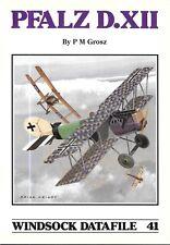 Windsock Datafile No.41 PFALZ D.XII History 1/72 1/48 Drawings Markings Lozenge