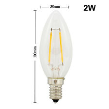 Vintage E14 E27 2W 4W 6W 8W Edison Filament LED Candle Lights Globe Bulbs Lamps