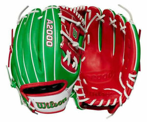 """2021 Wilson A2000 1786 Mexico Country Pride Limited Glove 11.5"""" Baseball RHT"""