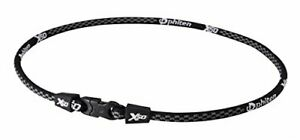 Phiten 0208TF360254 RAKUWA Neck X50 Black 55cm Titanium Therapy Neckless