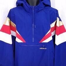 Adidas Originals Fontanka Windbreaker Jacket Retro Pullover Gold Blue CX4752 2XL