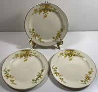 Taylor Smith Taylor Orange Snowball Flowers - 3 Bread & Butter Plates 6 3/8""