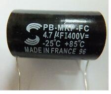 Solen PB-MKP-FC 4.7uF 400V 4.7MFD MKP Non-polar audio capacitor   #G923 xh