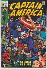 Captain America #112 Marvel Comics 1969, Origin Retold, Last Jack Kirby
