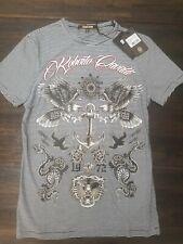 NWT Roberto Cavalli 100% Cotton Graphic T-Shirt Size S