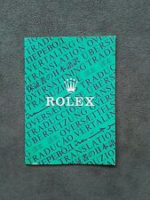 BOOKLET ROLEX TRANSLATION ANNO 1986