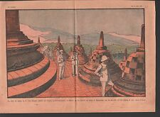 PAUL REYNAUD au Temple de Borobudur JAVA INDONÉSIE INDONÉSIA  ILLUSTRATION 1931