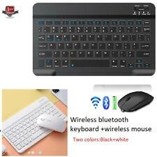 More details for rechargeable wireless bluetooth keyboard+mouse for ios ipad android tablet pc uk