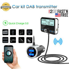 FM Transmitter LCD Car DAB Radio Receiver Tuner +USB Adapter Charger