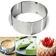 6''-12'' Adjustable Stainless Steel Cake Round Mousse Mold Cutting Ring Bakeware