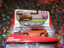 "DISNEY PIXAR CARS ""CORA COPPER"" Die-Cast Metal, Scale 1:55, Mattel, New"
