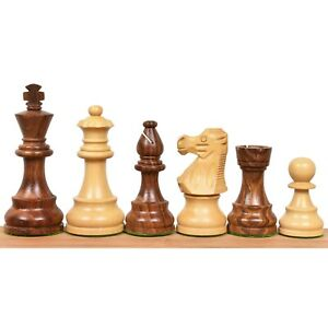 French Lardy Staunton Chess Pieces set - Weighted Golden Rose wood  - 4 Queens