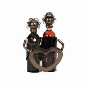 Flaschenhalter Liebespaar Metall Weinflaschenhalter Love Hochzeitsgeschenk Neu