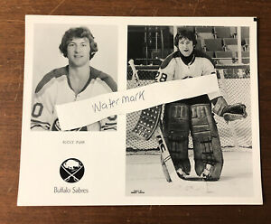 Vintage Buffalo Sabres Team Issued Photo Rocky Farr Buffalo Memorial AUD