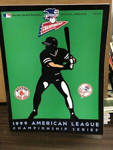 1999 ALCS Program MLB Baseball New York Yankees vs Boston Red Sox