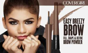 2 pk-Covergirl Easy Breezy Brow Fill + Shape + Define Powder Eyebrow 800 Black