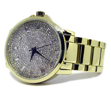 Faux Diamond Classic Gold plated HipHop Bling Watch