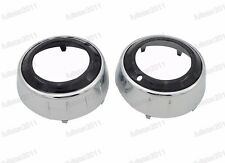 1Pair Chrome Fog Light Surround Covers For Mitsubishi Outlander GT 2009-2010