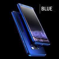 Coque Protection Intégrale Pour Samsung Galaxy S8 Plus Miroir Couleur Bleu + Fi