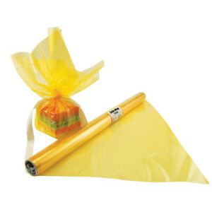 HYGLOSS PRODUCTS INC 71508 CELLO WRAP ROLL YELLOW