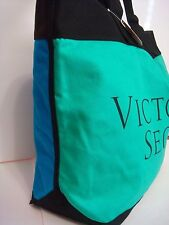 VICTORIA SECRET PINK WEEKEND GETAWAY GYM BAG TOTE OVERSIZED BLUE GREEN BLACK