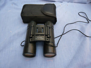 unbranded compact binoculars  10 x 25 in good condition with pouch